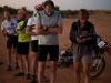 Simpson Desert Bike Challenge, 2007DAY 1: At the Start Line, Purni Bore.  Weighing in. RIDER 9 - Stuart Wigfall.