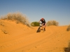 Simpson Desert Bike Challenge, 2007DAY 2 STAGE 3 and RIDER 12 Ryan Hyde battles the soft drift on the top of a dune.