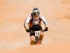 Simpson Desert Bike Challenge, 2007DAY 3 STAGE 5Rider 13 Mathew DIckerson pushing up the next dune.
