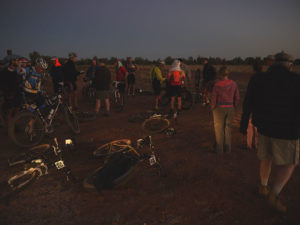 Riders preparing for an early start