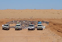 Vehicles at Birdsville tip