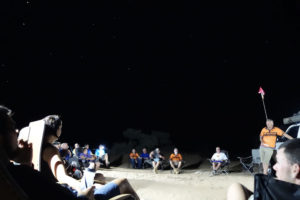 Race Briefing under the stars